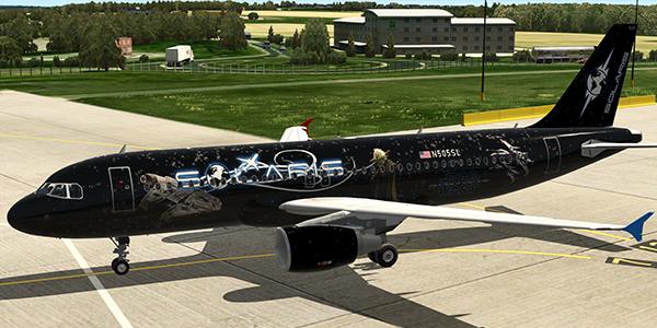 New Livery Added – FF A320U – N505SL – Star Wars – Solaris